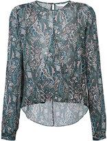 Veronica Beard paisley print semi-sheer blouse - women - Silk - 4