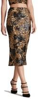 Dress the Population 'Sasha' Two-Tone Sequin Midi Skirt