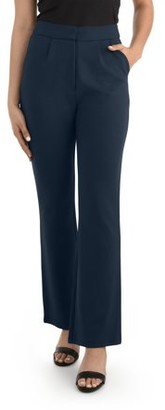 Seek No Further Women's High Waisted Pleated Fit and Flare Pants