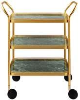 Kaymet Green Marble Three-Tiered Trolley