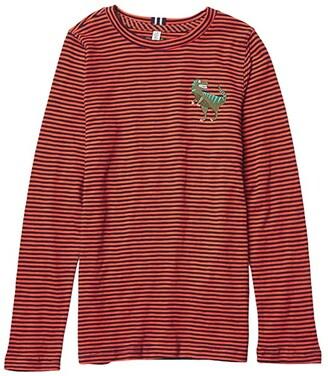 Joules Kids Island T-Shirt (Toddler/Little Kids/Big Kids) (Orange Dino) Boy's Clothing