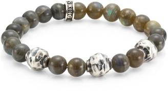 King Baby Studio Armor Sterling Silver & Labradorite Beaded Bracelet