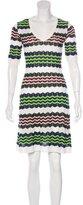 M Missoni Striped Knee-Length Dress