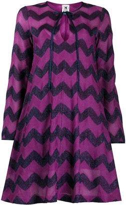 M Missoni Lurex Zig-Zag Knit Dress