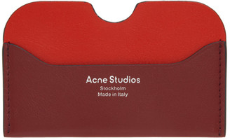 Acne Studios Red and Pink Logo Card Holder