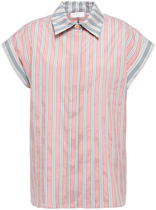Sandro Striped Habotai Shirt