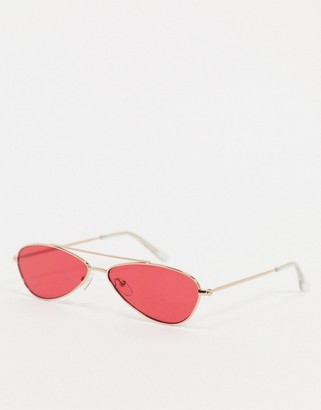 A. J. Morgan AJ Morgan Snippet aviator sunglasses in red