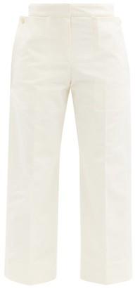 Jacquemus Esterel Cropped Cotton-canvas Trousers - Cream