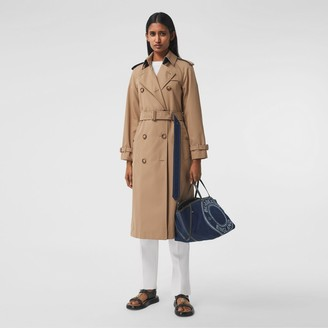 Burberry Denim Detail Cotton Gabardine Trench Coat