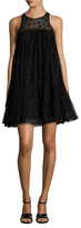 Zac Posen Tessa Embroidery Lace Trapeze Dress