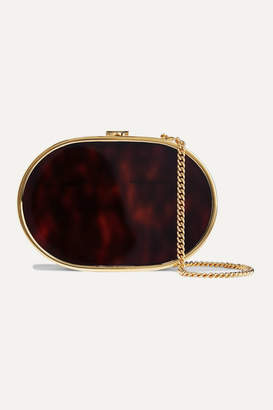 Mark Cross Gabriella Gold-tone And Tortoiseshell Acrylic Shoulder Bag - One size