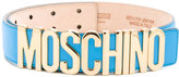 Moschino logo belt - women - Leather - 85