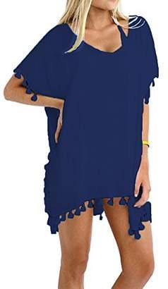 Taydey Women's Stylish Chiffon Tassel Beachwear Bikini Swimsuit Cover up