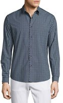 Theory Benner Small-Check Sport Shirt, Victory Multi