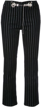 Miaou Morgan Striped Velvet Pant