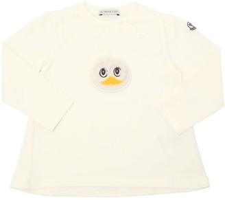 Moncler Duck Patch Cotton Jersey T-Shirt