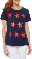 Sag Harbor Stars And Stripes Short Sleeve Crew Neck T-Shirt