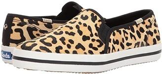 Kate Spade Keds X Keds x Double Decker (Tan/Black Printed Pony) Women's Shoes