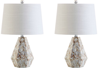 Jonathan Y Designs Set Of 2 Isabella 21In Seashell Table Lamps