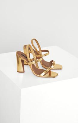 BCBGMAXAZRIA Metallic Slingback Sandal