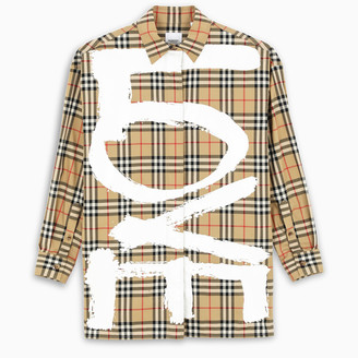 Burberry Oversized shirt with Vintage Check motif
