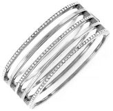 Vince Camuto On Point Pave Bracelets Light rhodium plated base metal Glass Hinge Bangle Bracelet