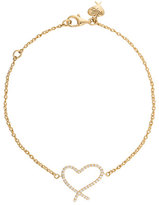 Stephen Webster Heart Diamond Chain Bracelet in 18K Yellow Gold