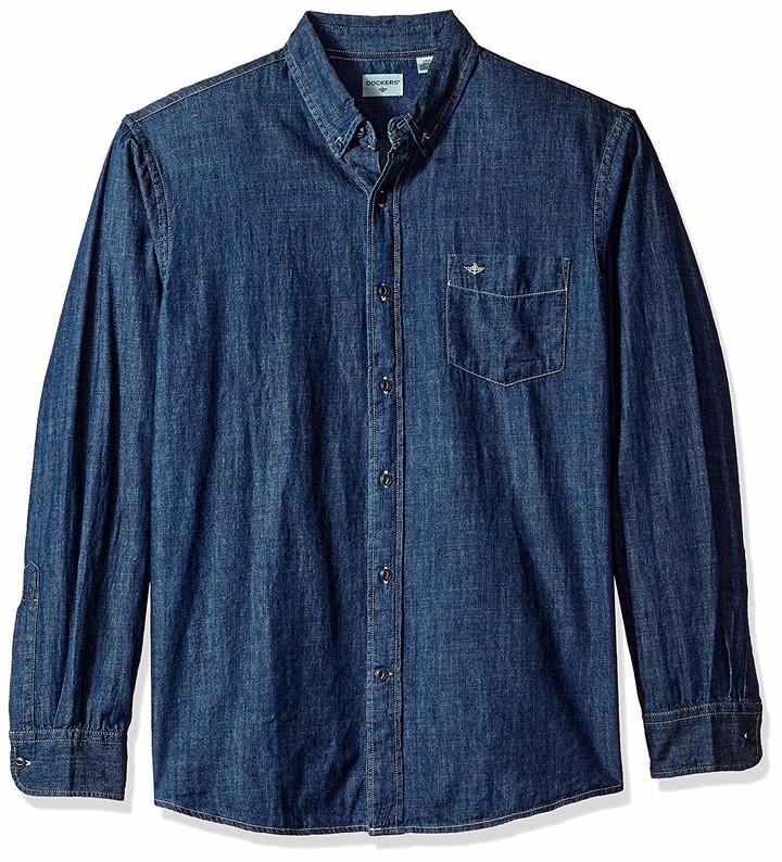 Dockers Mens Long Sleeve Button Up Perfect Shirt
