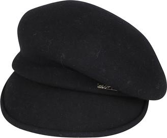 CA4LA Black Wool Beret