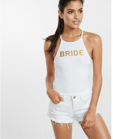 Express one eleven bride metallic abbreviated tank