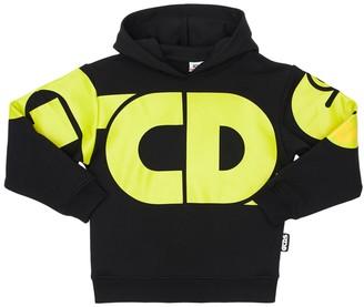 GCDS Logo Print Cotton Sweatshirt Hoodie