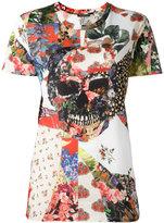 Alexander McQueen floral skull T-shirt - women - Cotton - 36