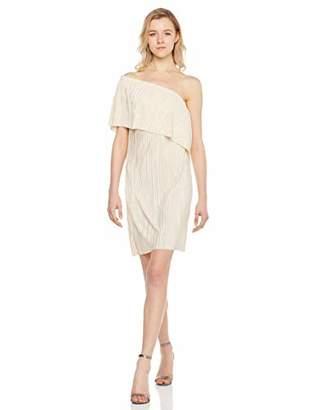 MEHEPBURN Women's Strapless Ruffles One Shoulder Party Dress L