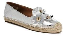 Marc Jacobs Daisy Leather Flat Espadrille