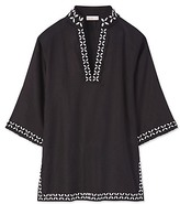 Tory Burch Solid Embellished Tunic