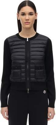 Moncler Wool Knit & Nylon Down Hybrid Jacket