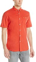 Farah Men's Trent Short Sleeve Button Down Woven with Pocket