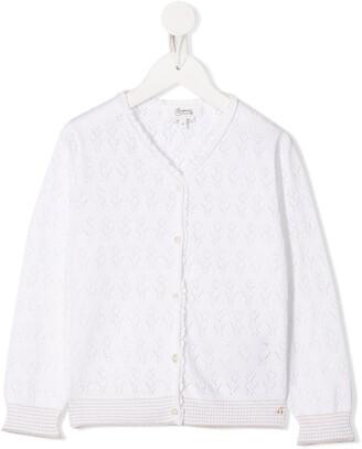 Bonpoint Pointelle-Knit Cardigan