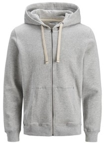 Jack and Jones Men's Melange Zip Hoodie Long Sleeve Sweatshirt
