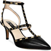 INC International Concepts Carma Pointed Toe Studded Kitten Heel Pumps, Created for Macy's Women's Shoes