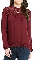 Jolt Lace Mock Neck Long-Sleeve Tunic