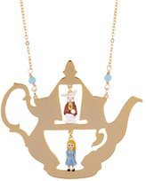 Les Nereides N2 by ONCE UPON A TIME ALICE AND THE WHITE RABBIT IN A TEAPOT LONG NECKLACE - Gold