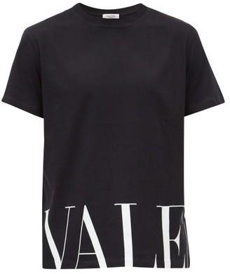 Valentino Logo-print Cotton-jersey T-shirt - Black White
