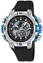 Calypso Men's Quartz Watch with Multicolour Dial Analogue Digital Display and Black Plastic Strap K5586/2
