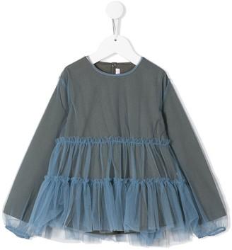 Il Gufo Blue Tulle Sweater Dress