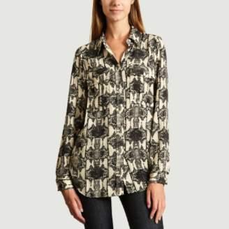 Essentiel Antwerp - Off White Black Polyester Snake Print Shirt - 36   polyester   off white - Off white