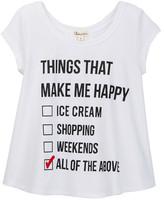 Ten Sixty Sherman Things That Make Me Happy Tee (Big Girls)