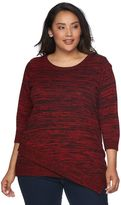 Croft & Barrow Plus Size Asymmetrical Hem Sweater