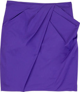 Pleat-front skirt