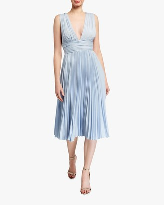 Badgley Mischka Pleated Cocktail Dress